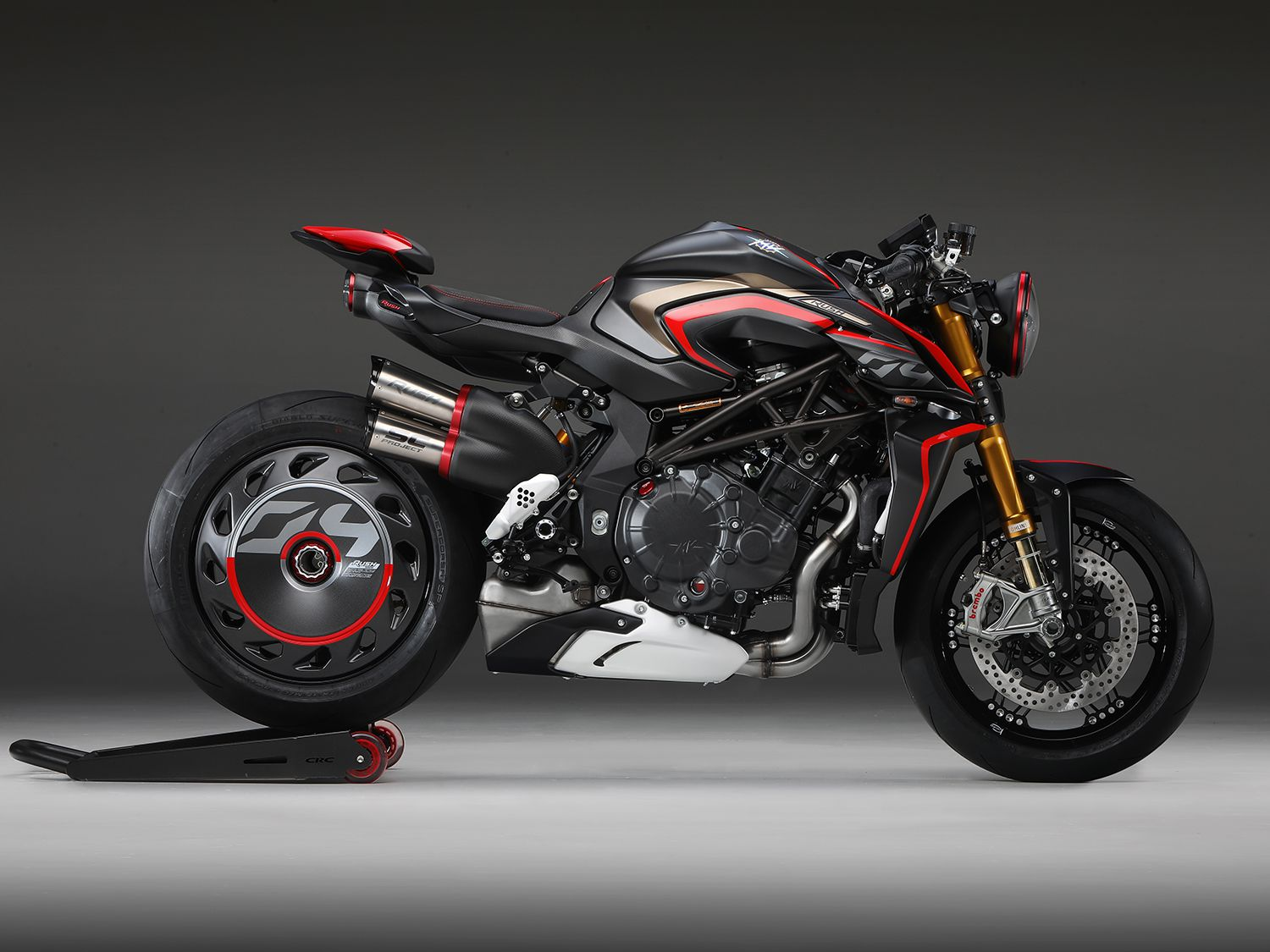 <h2>2020 MV Agusta Rush 1000</h2> </br> Production of the 2020 Rush 1000 is slated to begin in the next couple of months. This is apparently the only production bike utilizing radial valves and titanium connecting rods to assist in producing 208 hp in standard road form.