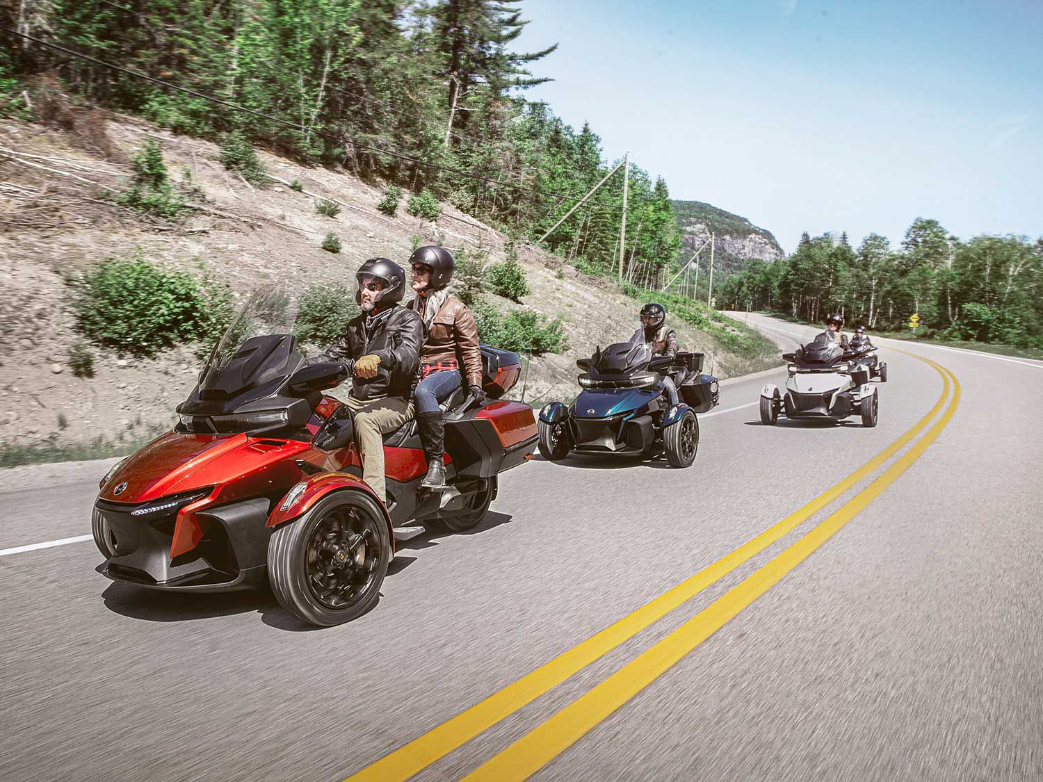 Can-Am updated the Spyder RT for more comfortable long-haul travel.