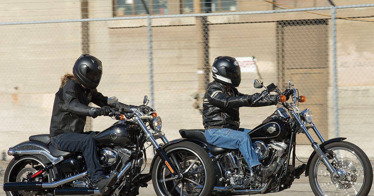 Harley Davidson Softails Motorcyclist
