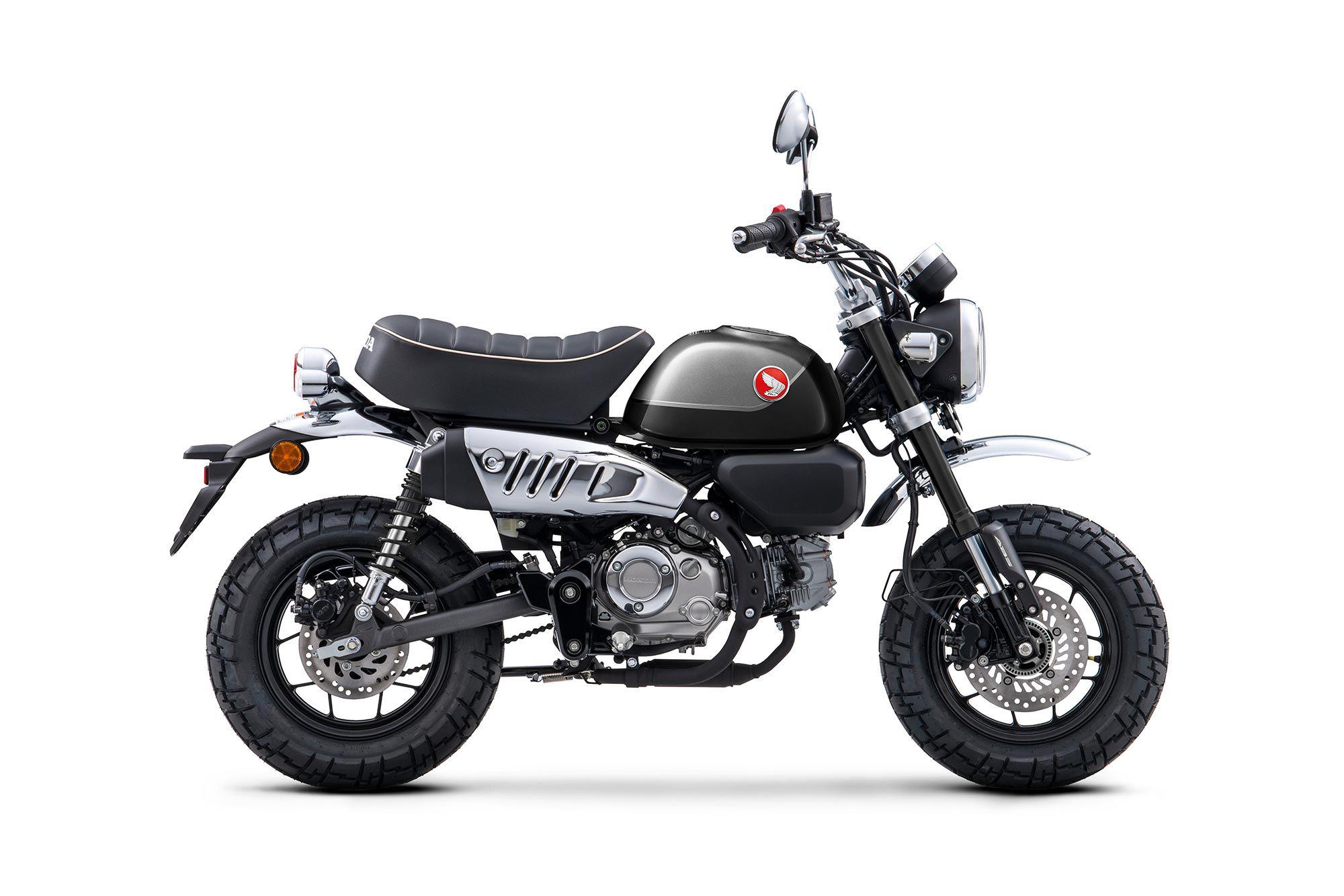 The 2022 Honda Monkey ABS in Pearl Black colorway.