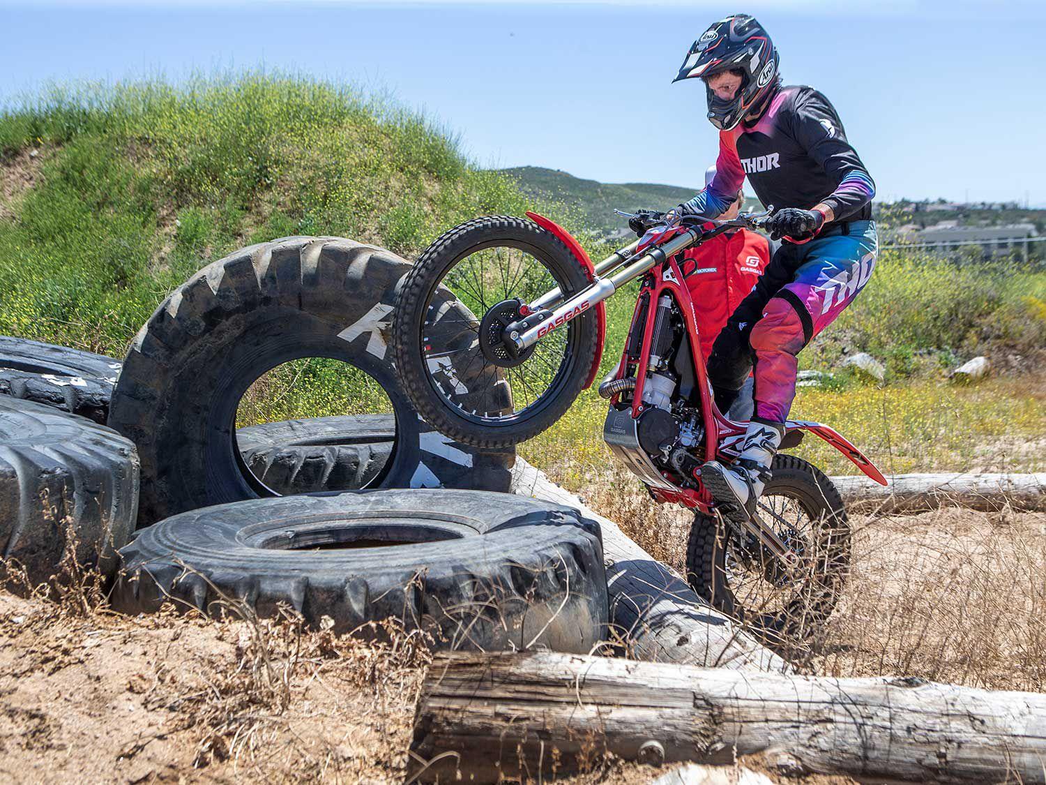 Patience and balance are the primary skills required for trials riding.