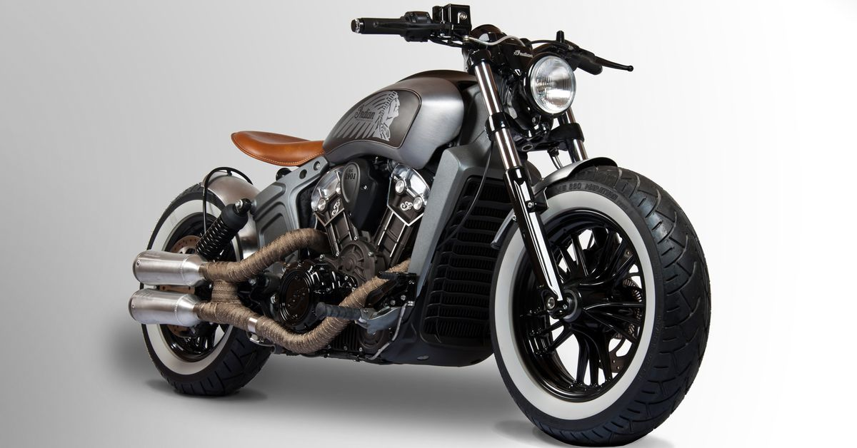2017 Indian Scout Custom Bobber From Tank Machine ...