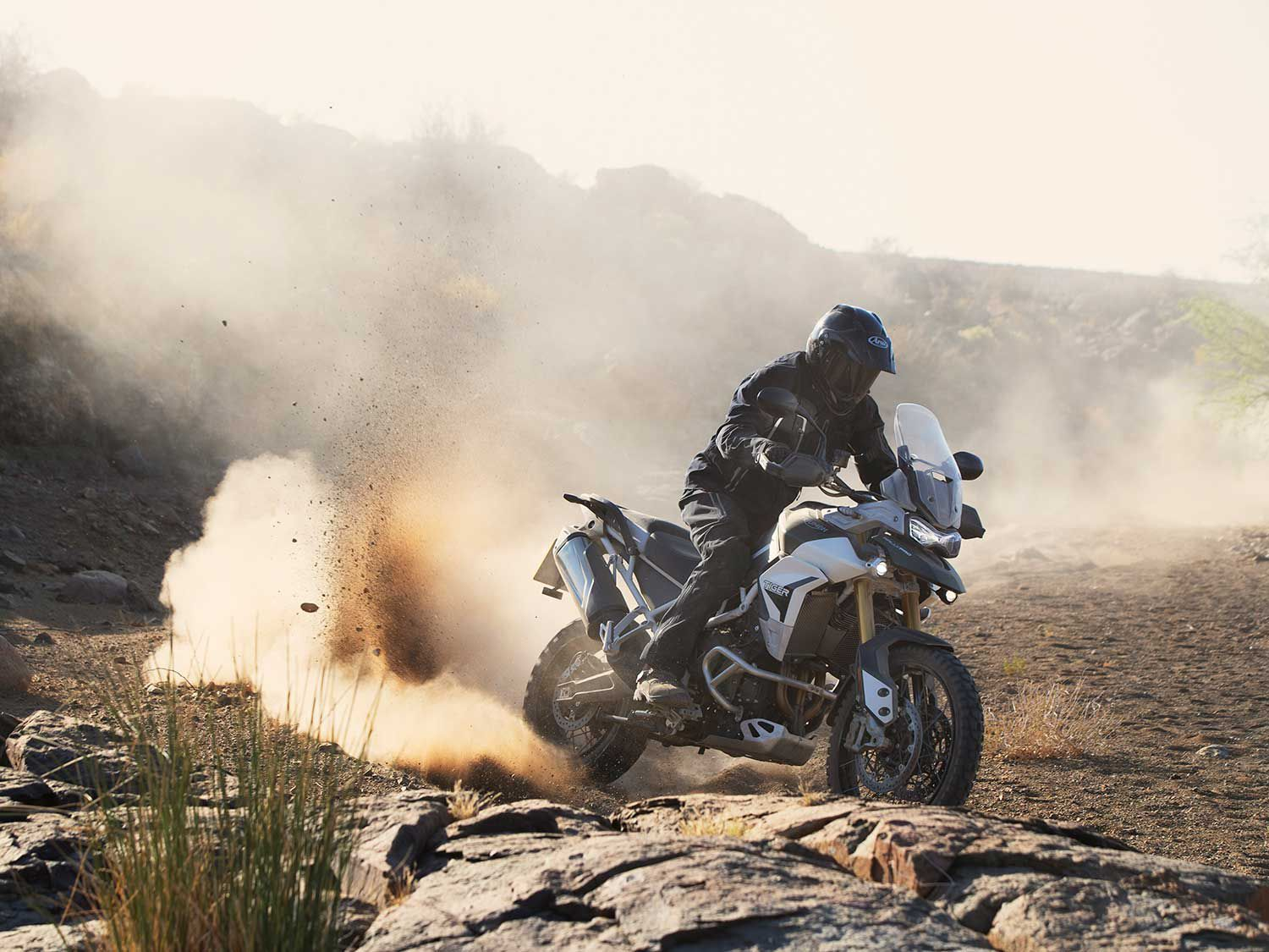 By the looks of it, Triumph's Tiger 900 looks more off-road oriented than the 800 model it replaces.
