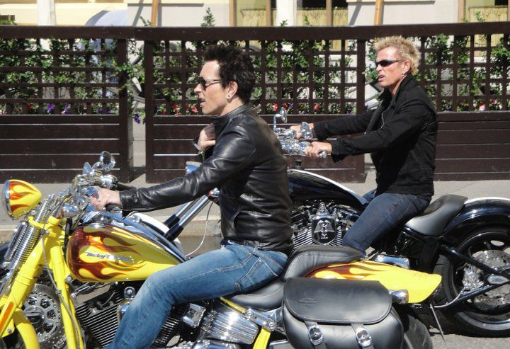 """<strong>Musician Billy Idol:</strong> Billy Morrison and Billy Idol have shared in some riding experiences together and, according to Morrison, the rockstar duo had """"some amazing riding experiences."""" Here, the two are sharing some saddle time."""
