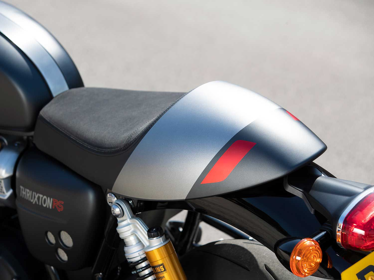 The RS can be fit with a pillion if you want to give a passenger a thrill.
