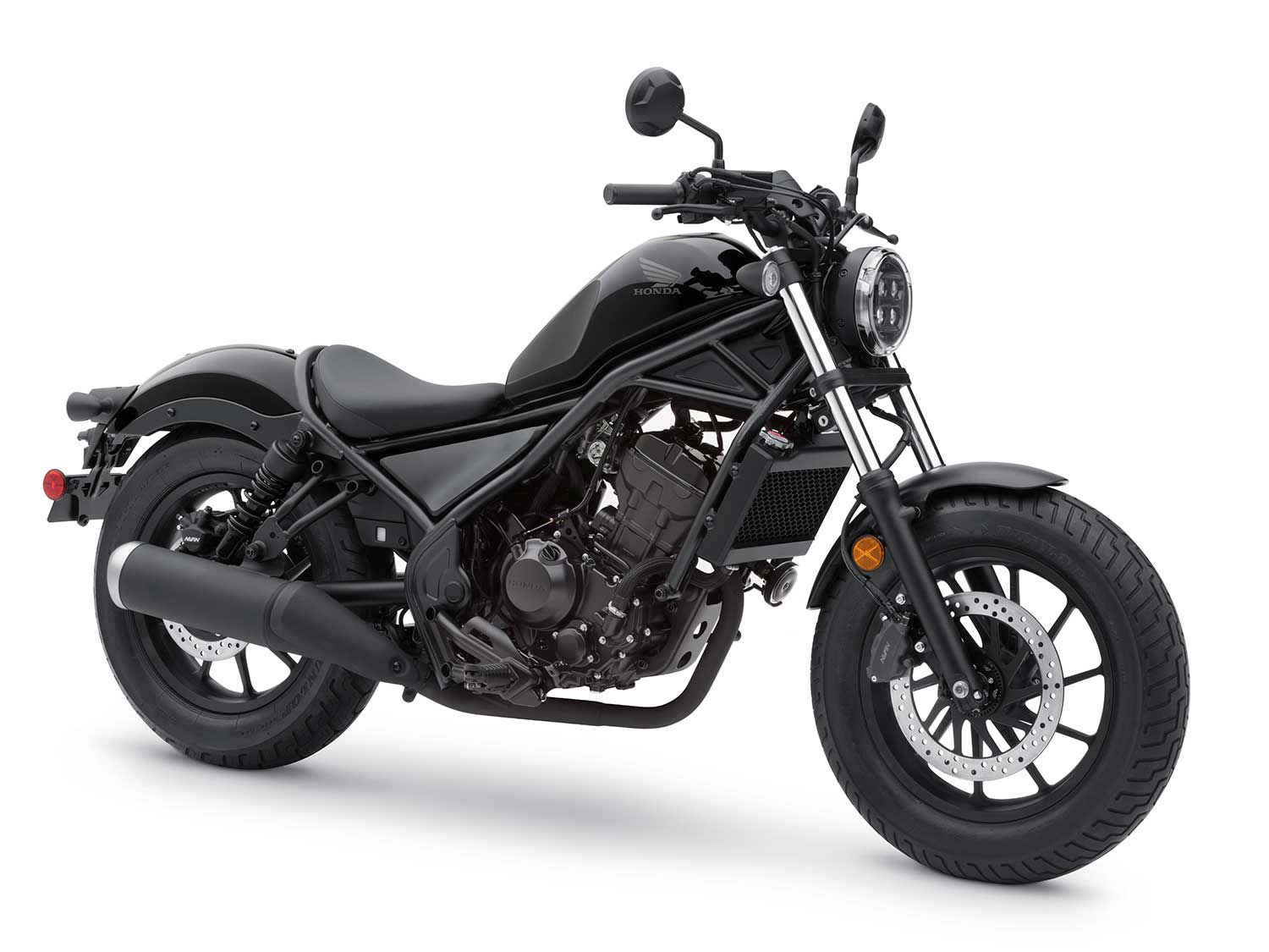 <h2>2020 Honda Rebel 300</h2> </br> Honda's small-displacement cruiser, the 2020 Rebel 300 has seen some changes such as the assist-slipper clutch and updates to the front and rear suspension.
