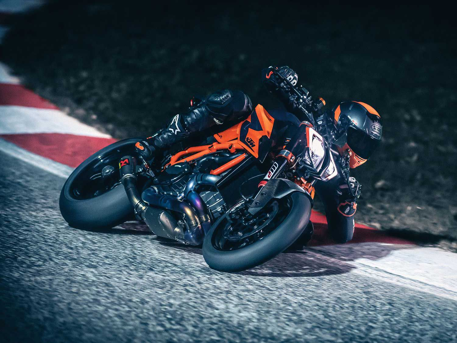 Considering power and price, a 1290 Super Duke is more bike than a new rider would ever need. But the sophisticated suite of rider aides could be a boon in a tricky situation.