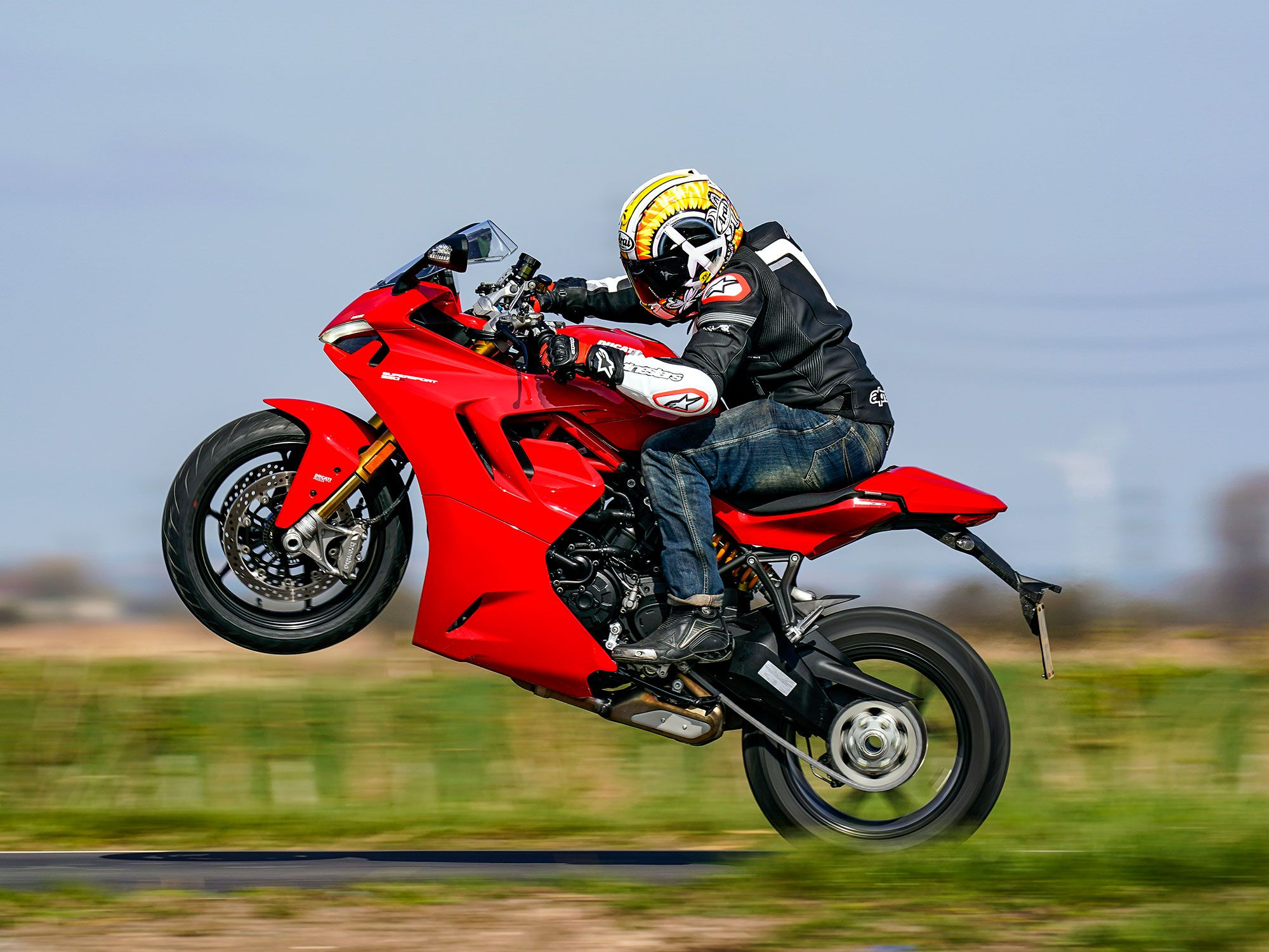 The L-twin desmodromic engine is now Euro 5 compliant, and Ducati claims it hasn't mislaid any power of torque in the process. Peak power is 110 bhp at 9,000 rpm, with peak torque at 69 pound feet at 6,500 rpm.