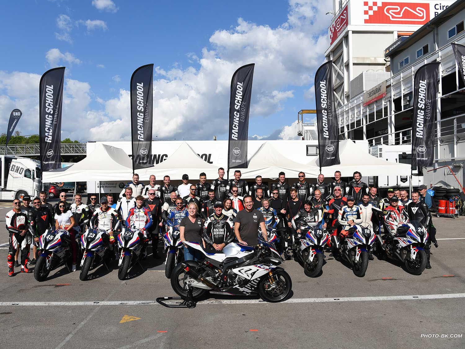 Riders from all over the world gather to ride with RSE. Epic group shot after three incredible days on the track.