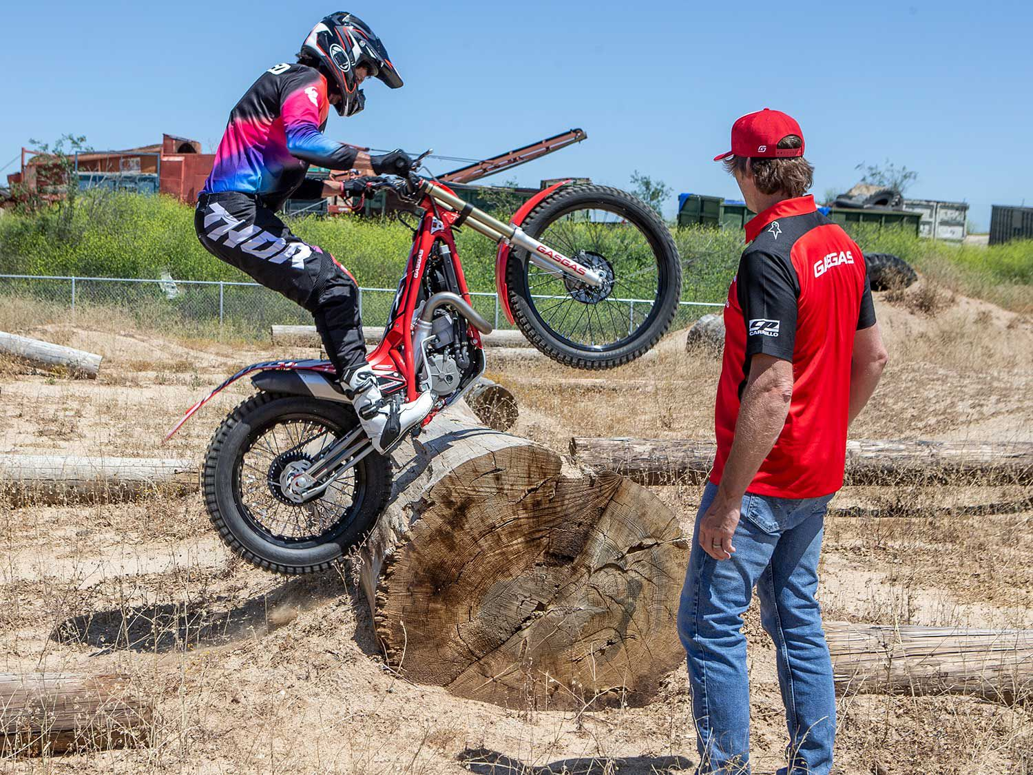 Momentum, balance, and patience are all key techniques to trials motorcycle riding as multitime AMA trials champ Geoff Aaron explains.