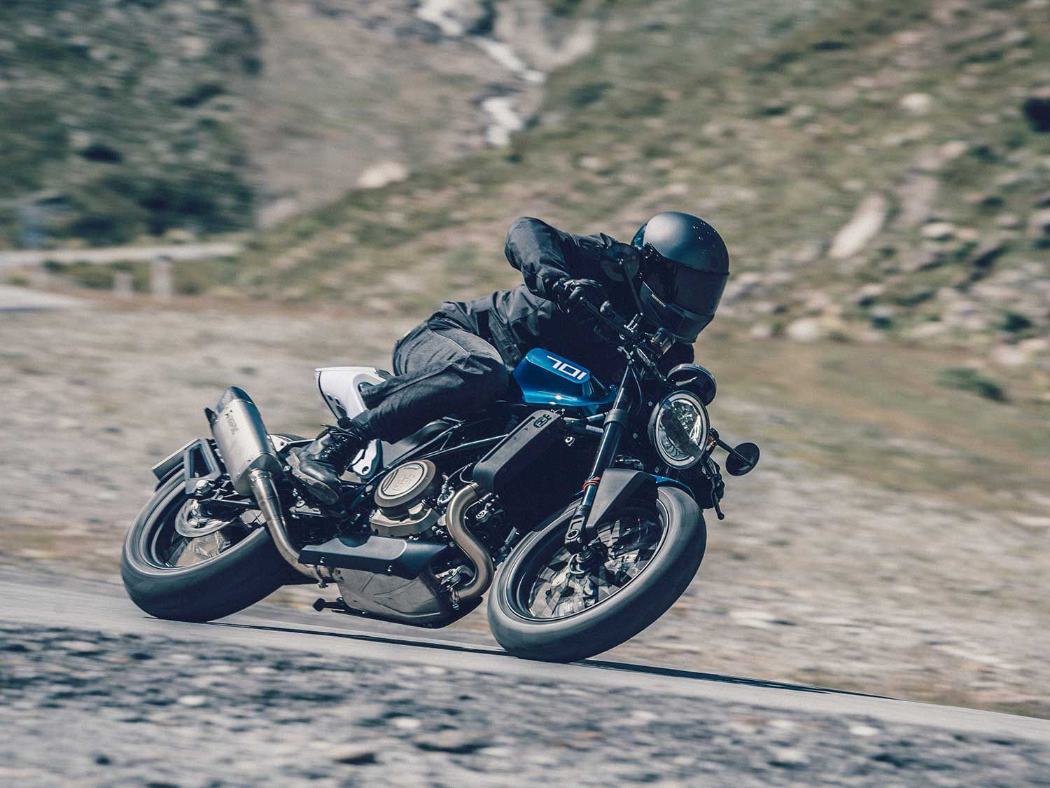 The Vitpilen 701 has helped Husqvarna find success in the on-road market.
