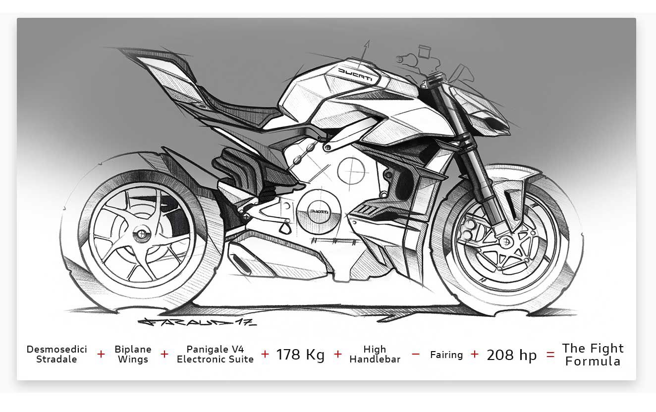 From the beginning the 2020 Ducati Streetfighter V4 was destined to be a kick-ass-looking motorcycle…even in black and white.