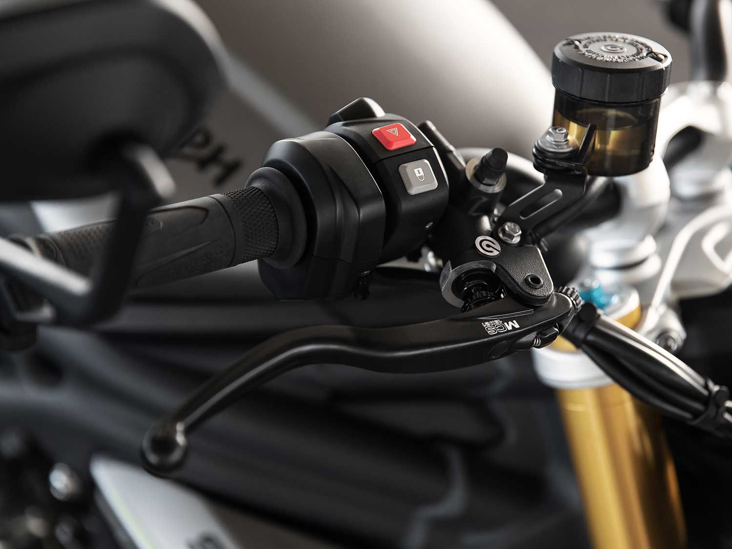 High-quality components down to the Brembo master cylinder and lever.