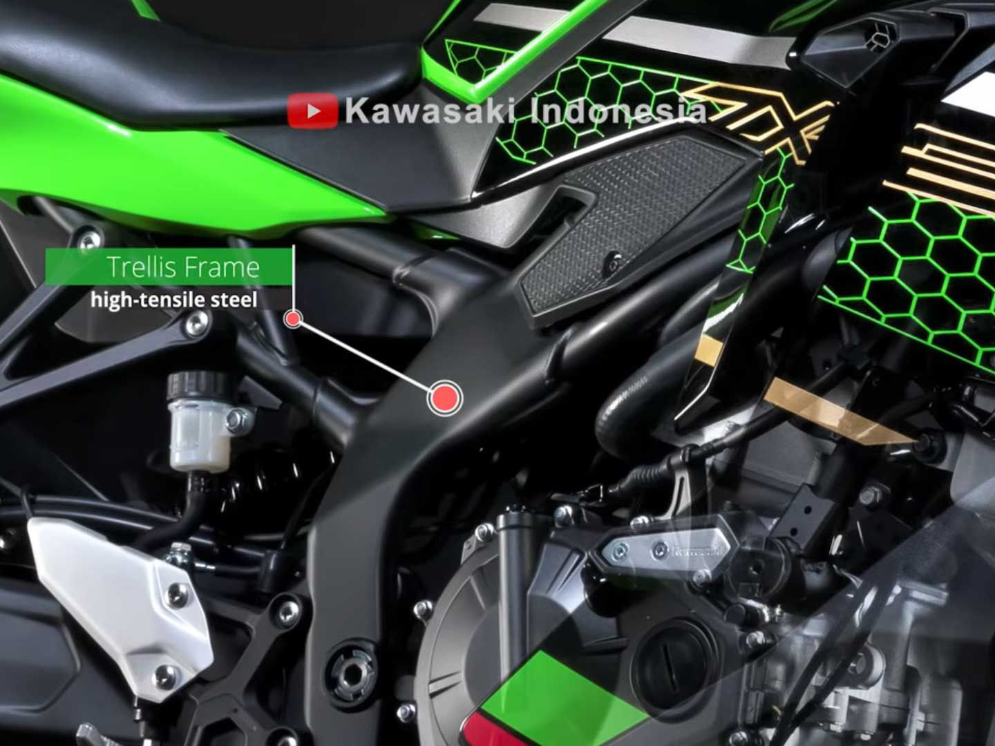 High-tensile steel frame and other up-spec components make the ZX-25R an enticing option.