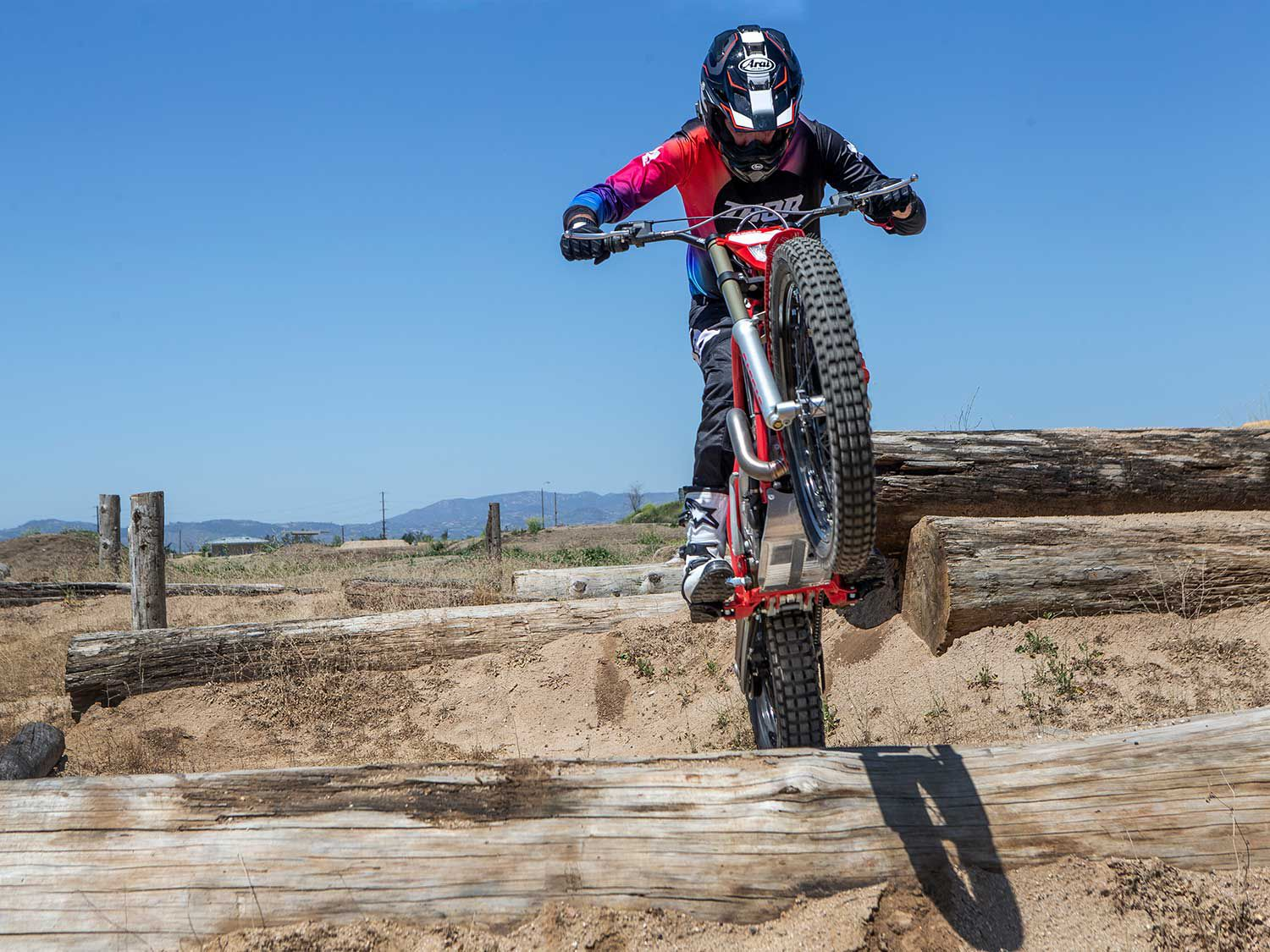 Trials motorcycles are capable of traversing obstacles like no other motorcycle made.