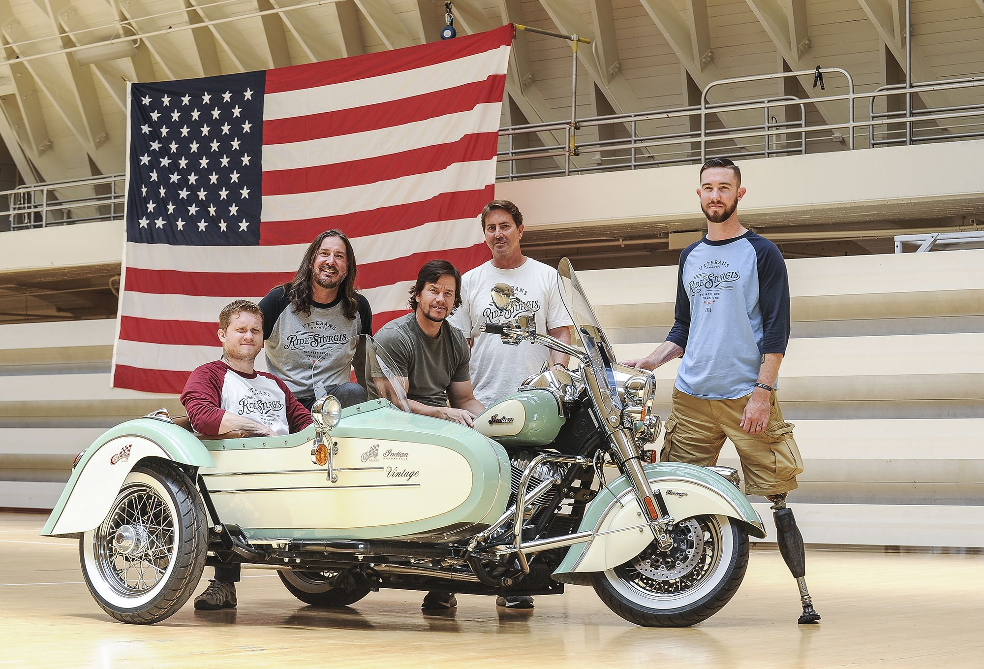 """<strong>Actor/Producer/Singer Mark Wahlberg:</strong> Moto enthusiast Mark Wahlberg lent his support a couple years back for the Veterans Charity Ride to Sturgis and has since been an ambassador for Indian Motorcycles. In a <a   href=""""https://wwd.com/eye/people/mark-wahlberg-talks-new-indian-motorcycle-collection-8227333/"""">WWD interview</a>, Wahlberg stated that he """"rode around a lot when I was a kid, but you know, not often enough,"""" and further, """"It's great because my sons like to ride little 50s [dirt bikes], and we live in a gated community so we ride around the neighborhood. If I am given the okay, I love riding around in the canyons."""""""