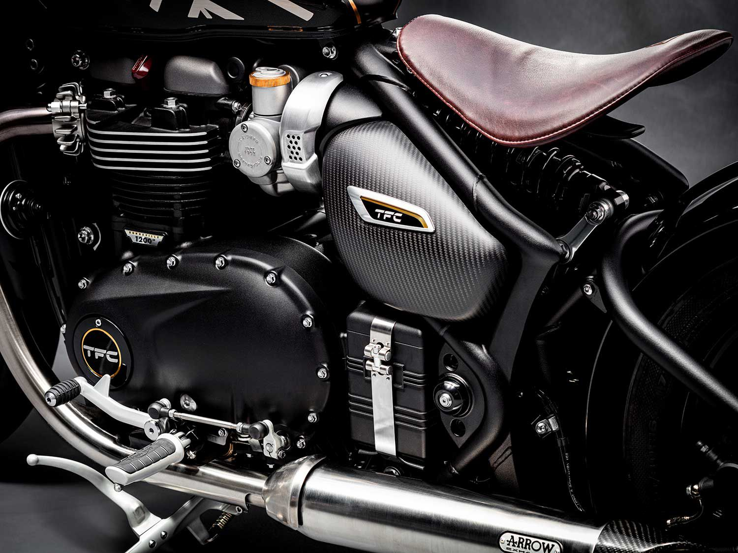 The 1,200cc engine receives a number of lighter parts, and yields more power and torque.