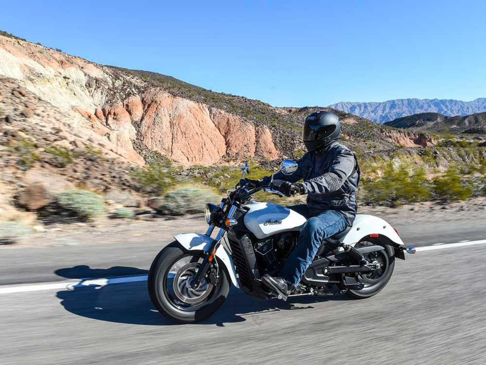 The Indian Scout Sixty has a full-size engine in an easy-to-manage chassis.