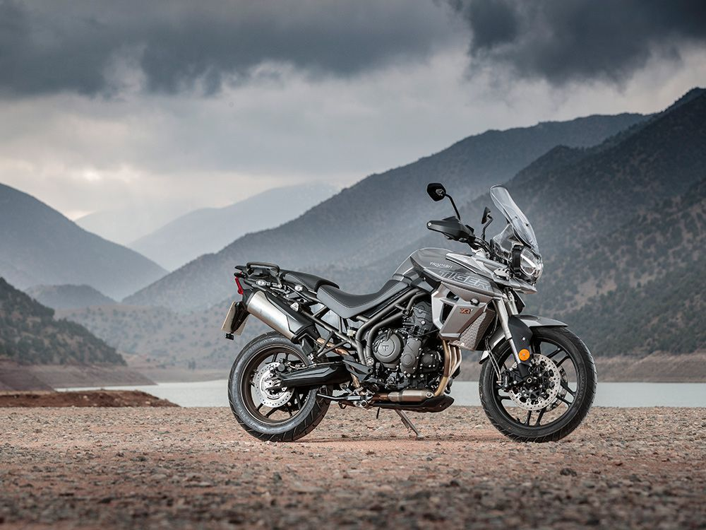<strong>Triumph Tiger 800 XRx LRH</strong> <br /> If you're a short motorcycle rider and like adventure bikes, then the 29.9-inch seat height for the Triumph Tiger 800 XRx LRH is the best option.