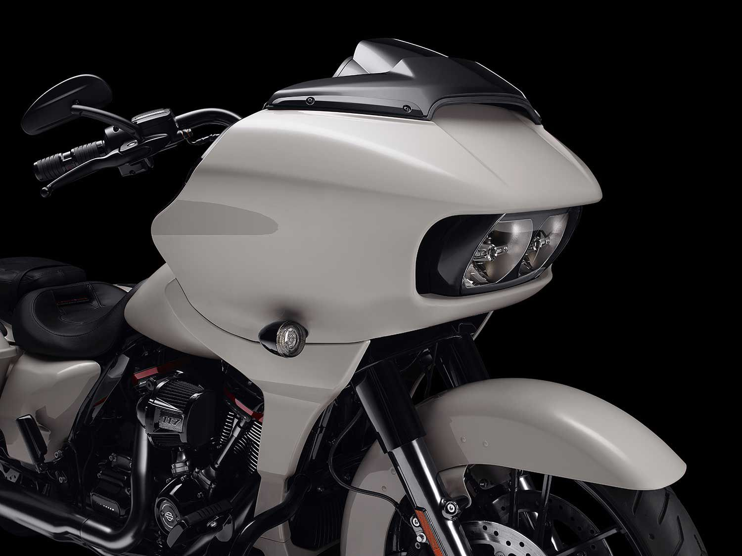 An aerodynamically tested and developed fairing promises smooth high-speed riding.