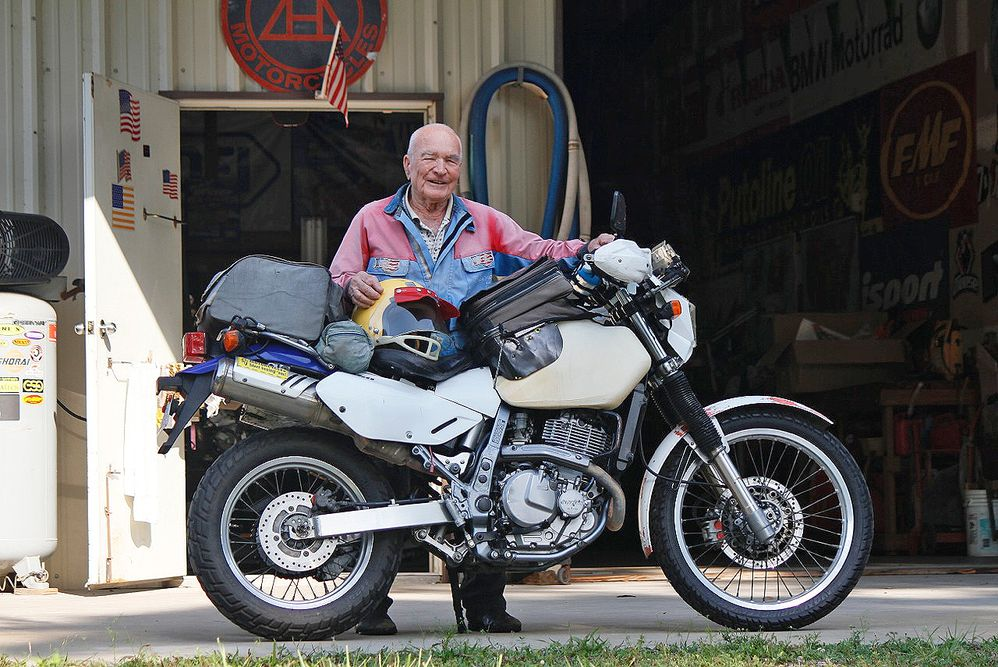 90-Year-Old Rider and his 2005 Suzuki DR650 | Motorcyclist