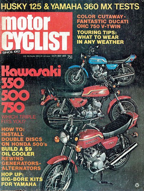 throwback - the ultimate collection would include all three of kawasaki's  triples, the h1 500, the h2 750, and the s2 350  kawasaki wowed enthusiasts  with