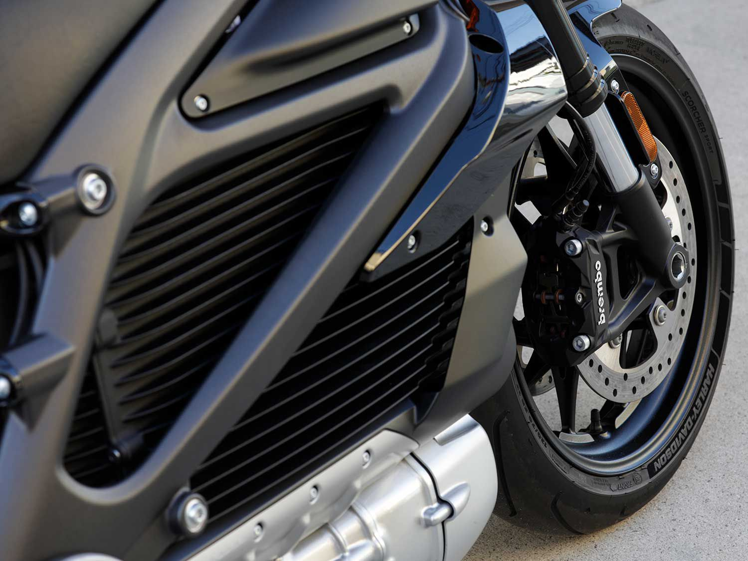 The Harley-Davidson LiveWire employs high-end componentry that helps it achieve a high level of road performance, regardless of powertrain design.