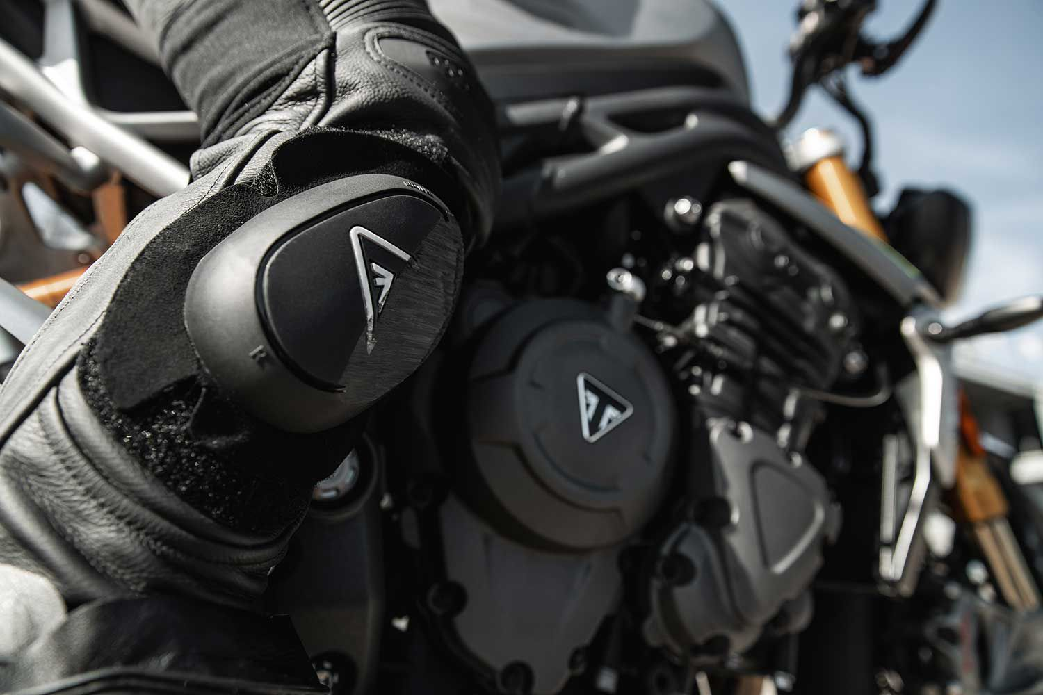 An all-new, more powerful, and lighter-weight triple was designed using lessons learned during Triumph's Moto2 engine development.