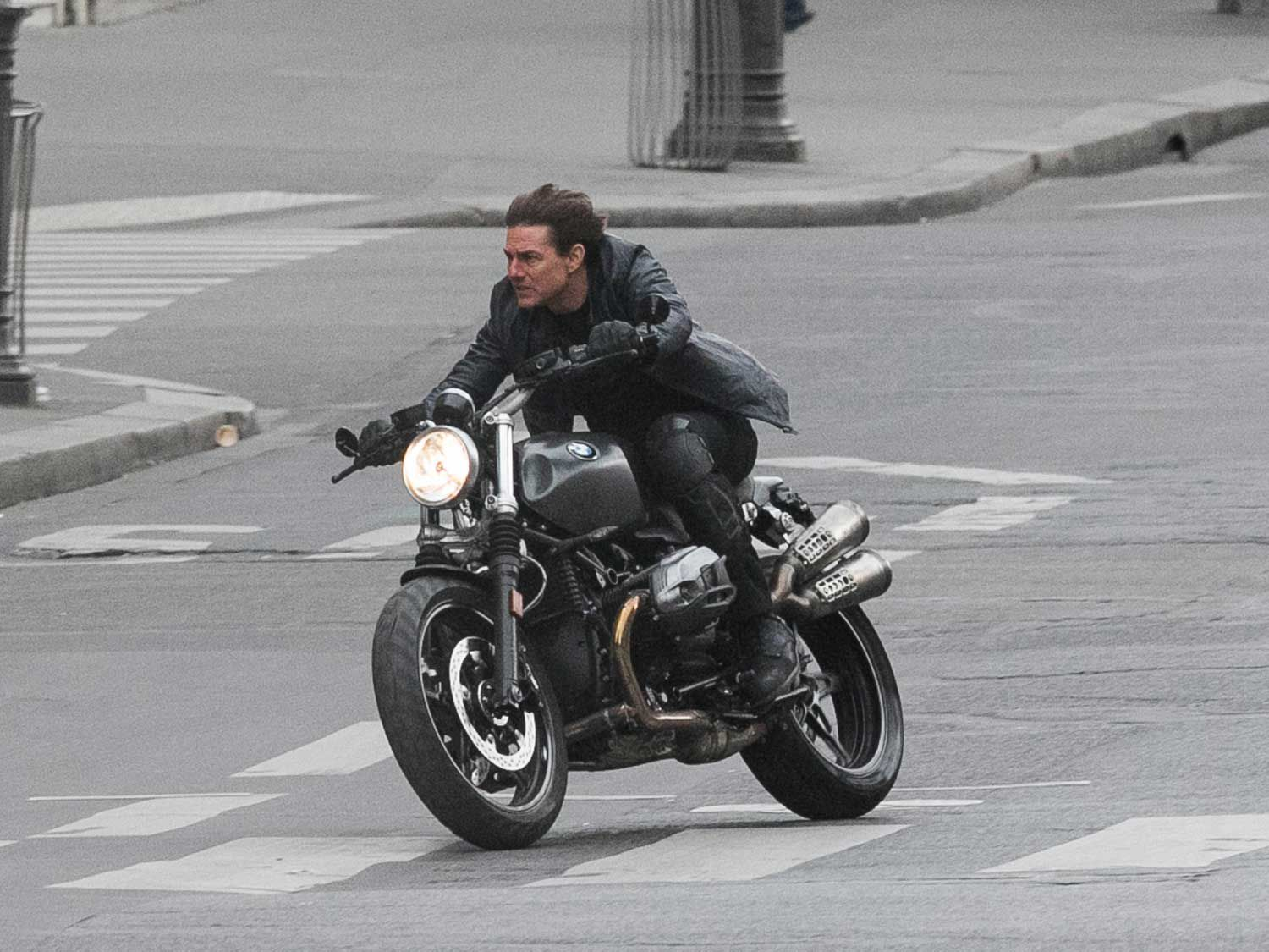 <strong>Actor Tom Cruise:</strong> It is reported that Tom Cruise takes stunting into his own hands and here he is riding on the streets of Paris for the sixth <em>Mission: Impossible</em> movie.