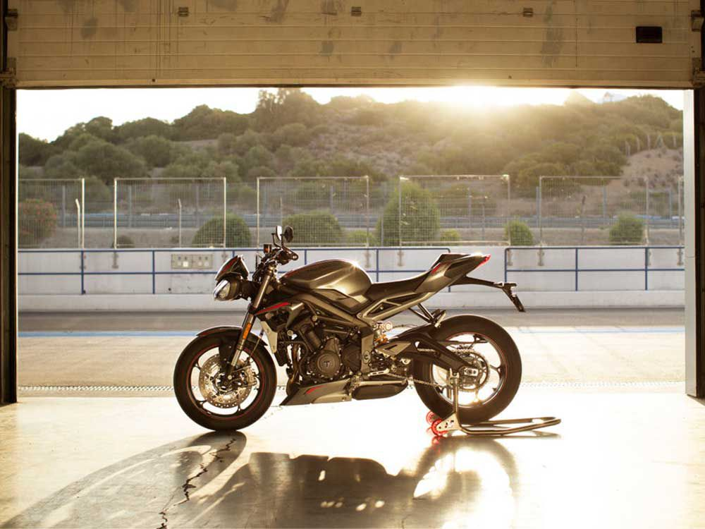 "A new day dawns on Triumph's Street Triple, with an updated RS model just announced. Note the sharper bodywork and the foot control plates and rear footrest hangers now with black finishes, plus a satin metal finish on the heel guards and silencer. The aluminum frame now uses the Titanium Silver finish as used on the Speed Triple models. <a href=""hhttps://www.motorcyclistonline.com/2020-triumph-street-triple-rs-review-first-look/"">Read the full review »</a>"