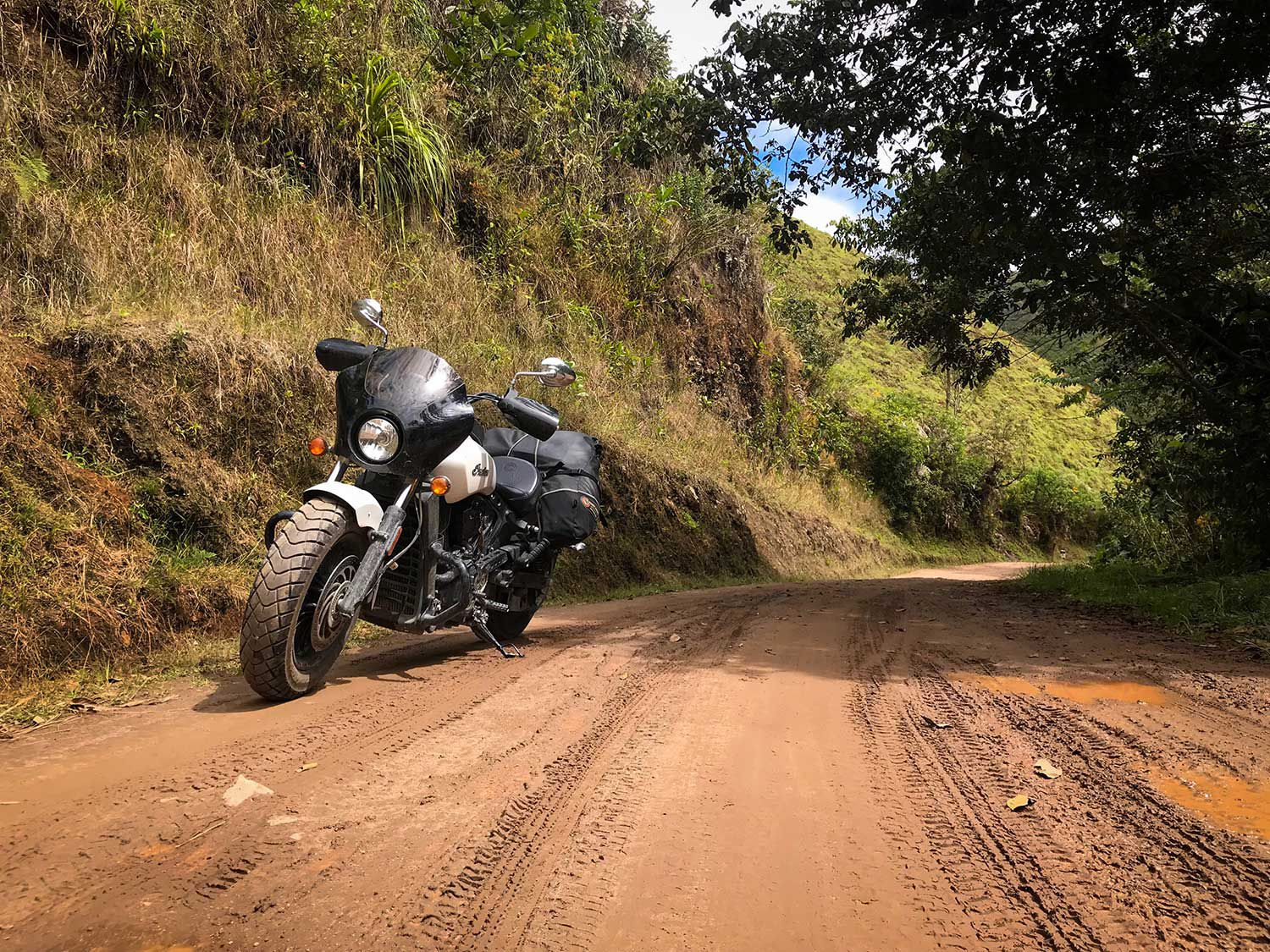 The challenges that come along with riding a bike like this on roads such as these is a part of the adventure.