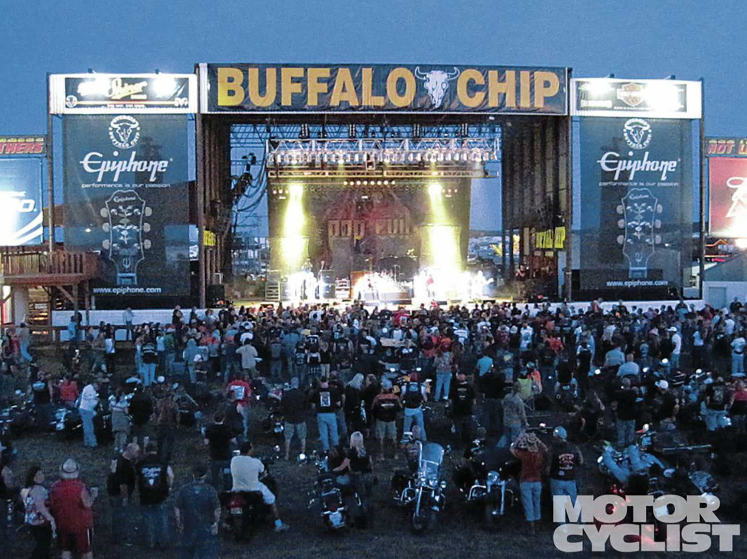 The Buffalo Chip Campground hosts live concerts, racing, and has been the premier party scene at Sturgis for many years and it keeps getting bigger.