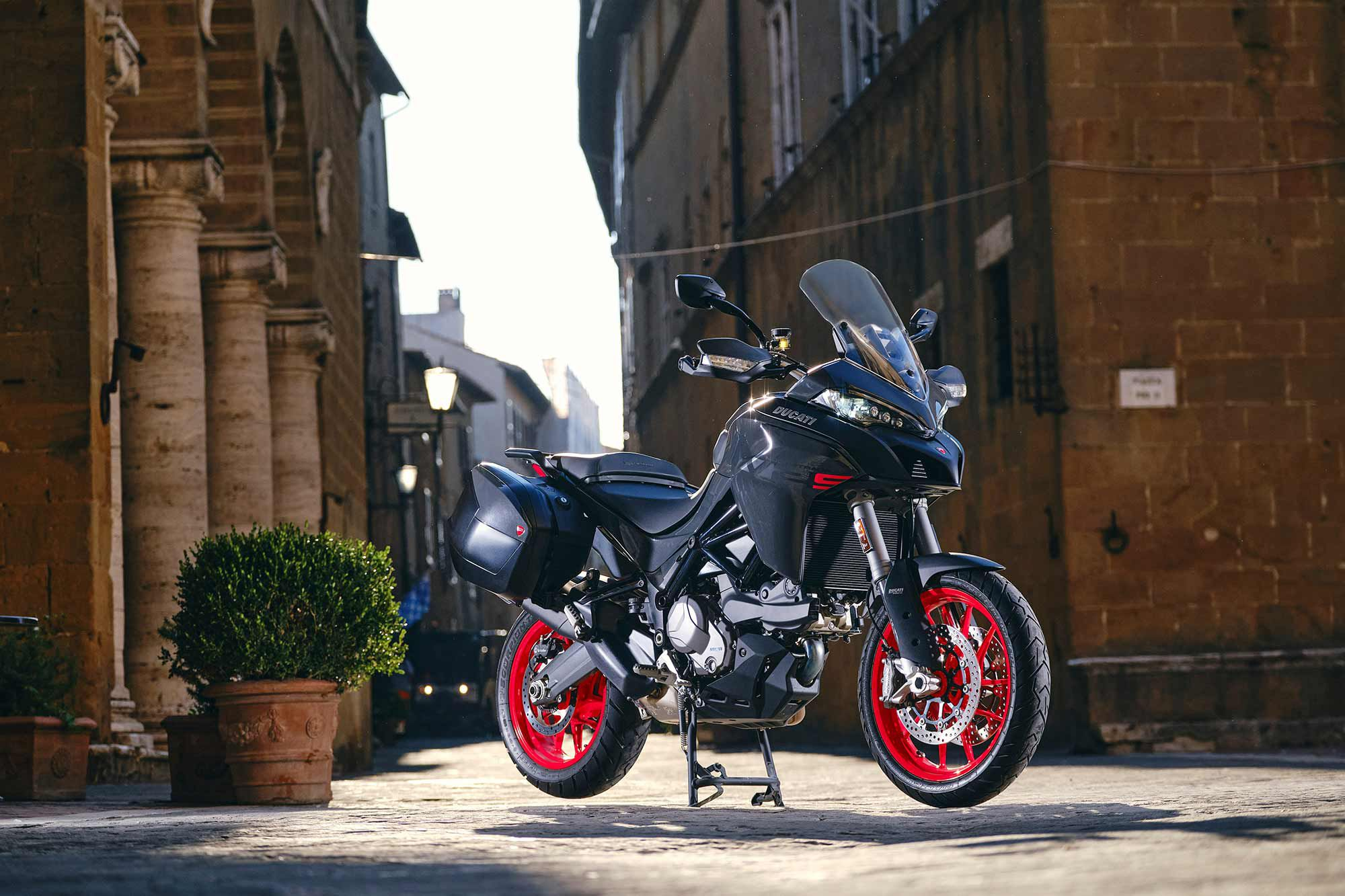 Designers refined the lines of the Multistrada from tip to tail.