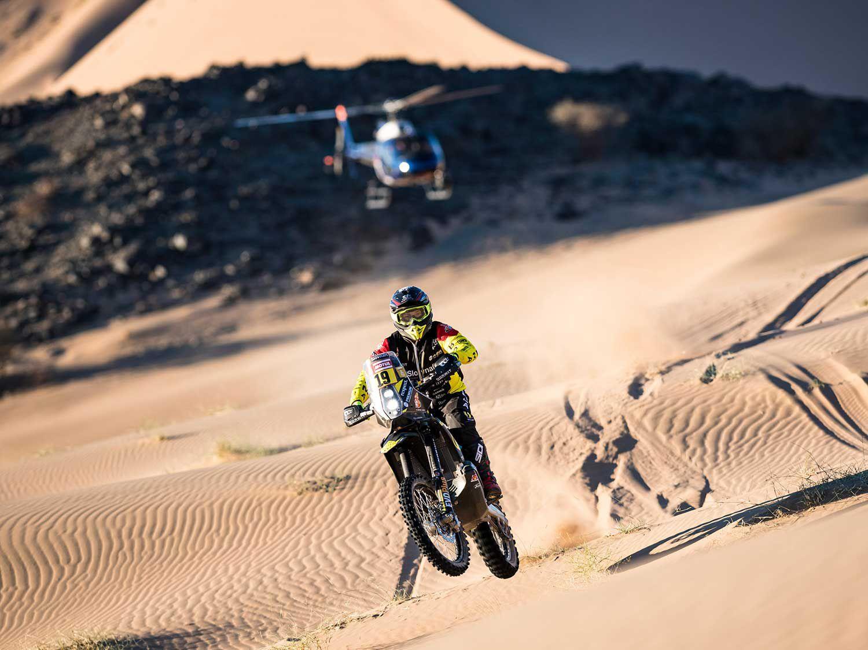 Štefan Svitko (Slovakia) competing for glory during the Dakar 2020 from Jeddah to Al Wajh.