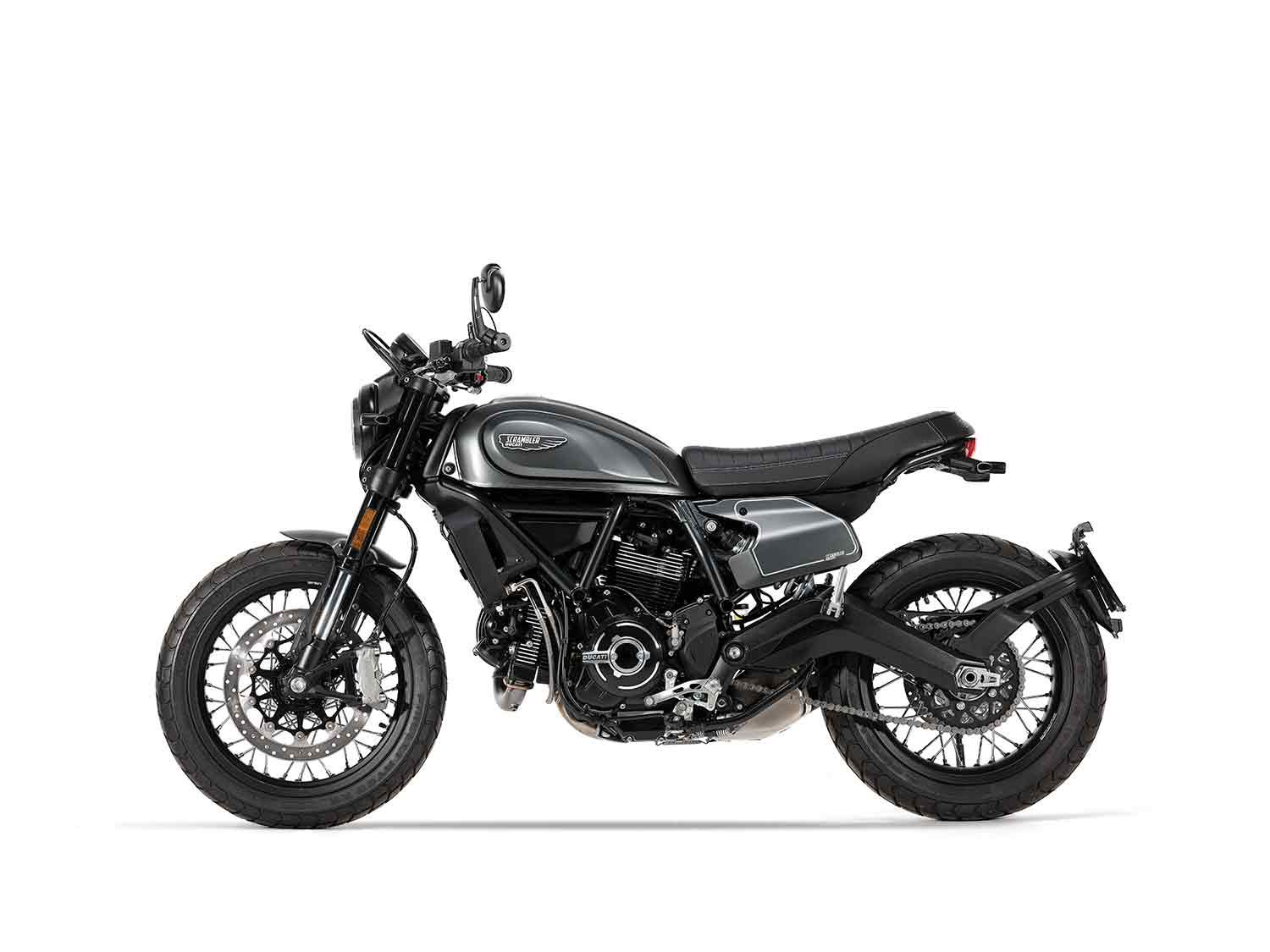 Built around the popular 803cc L-twin platform, the Nightshift fits into the Scrambler line seamlessly.