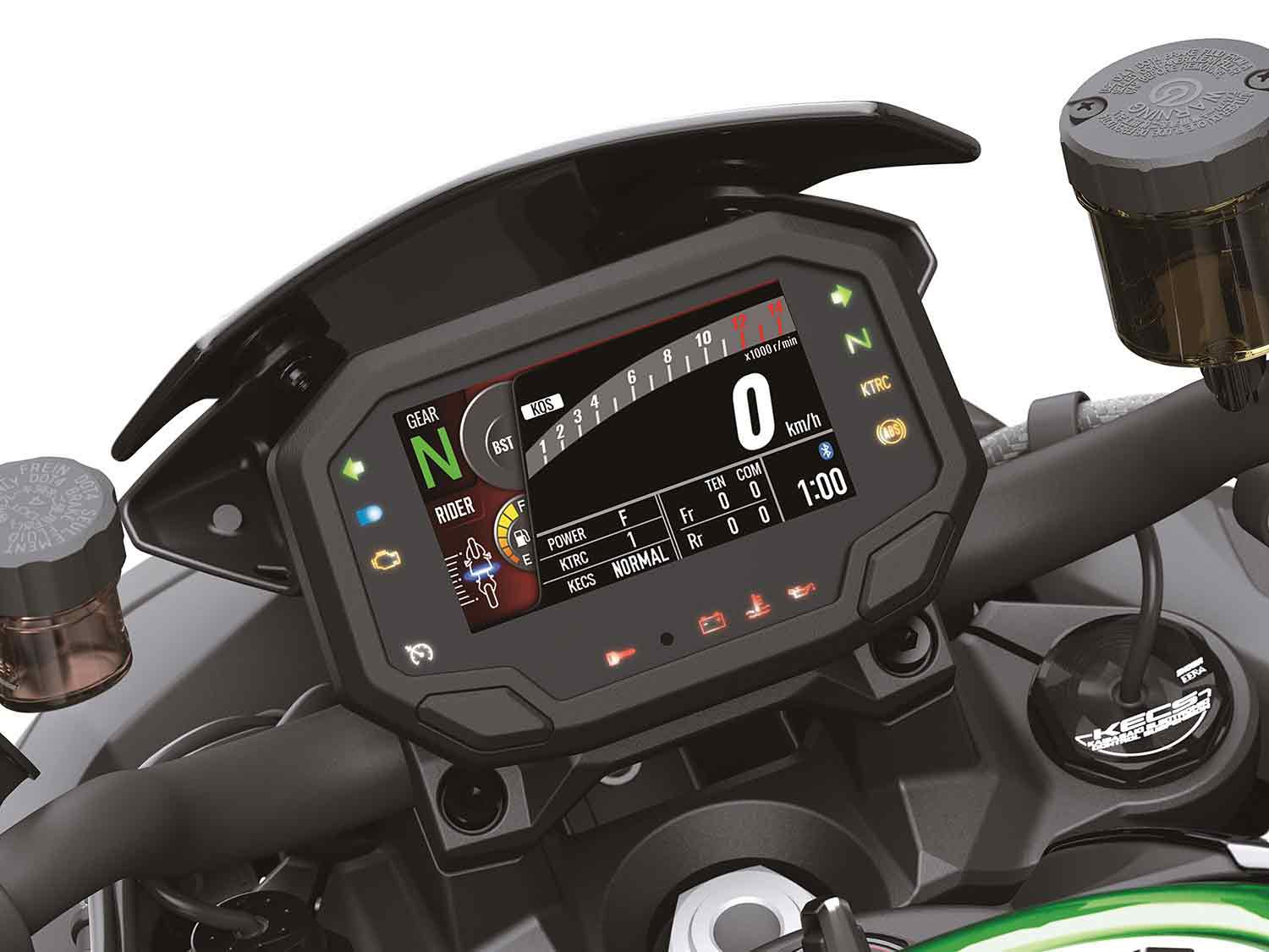 The Z H2 SE has three set rider modes as well as the ability to customize electronics settings to your liking.