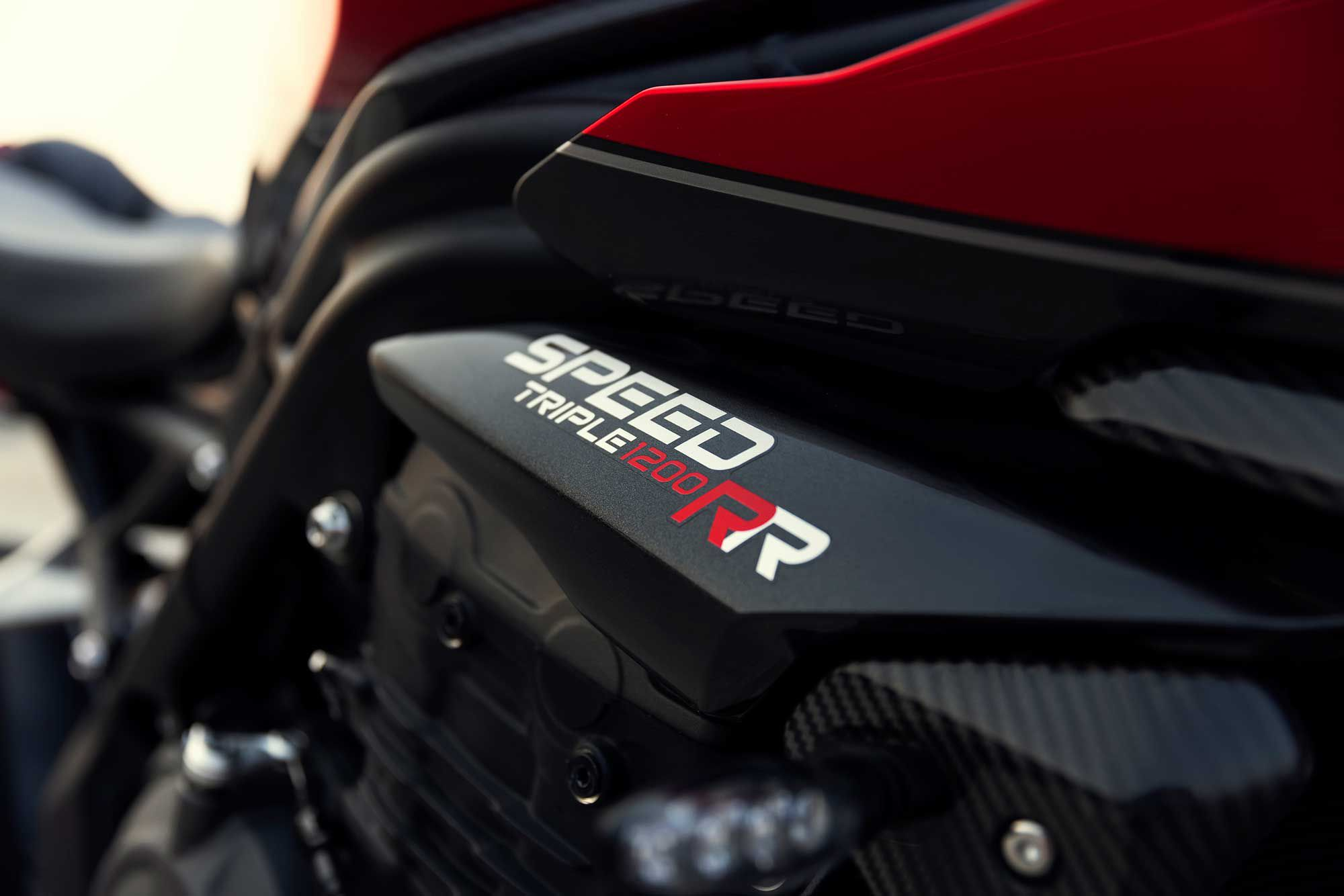 The new RR packs the same 1,160cc triple Triumph uses in the Speed Triple RS.