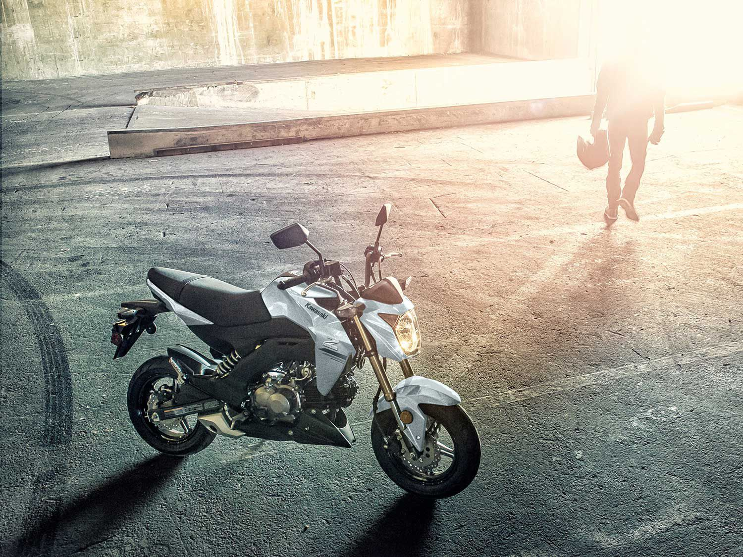 Big fun comes in a small package with the Kawasaki Z125 Pro.