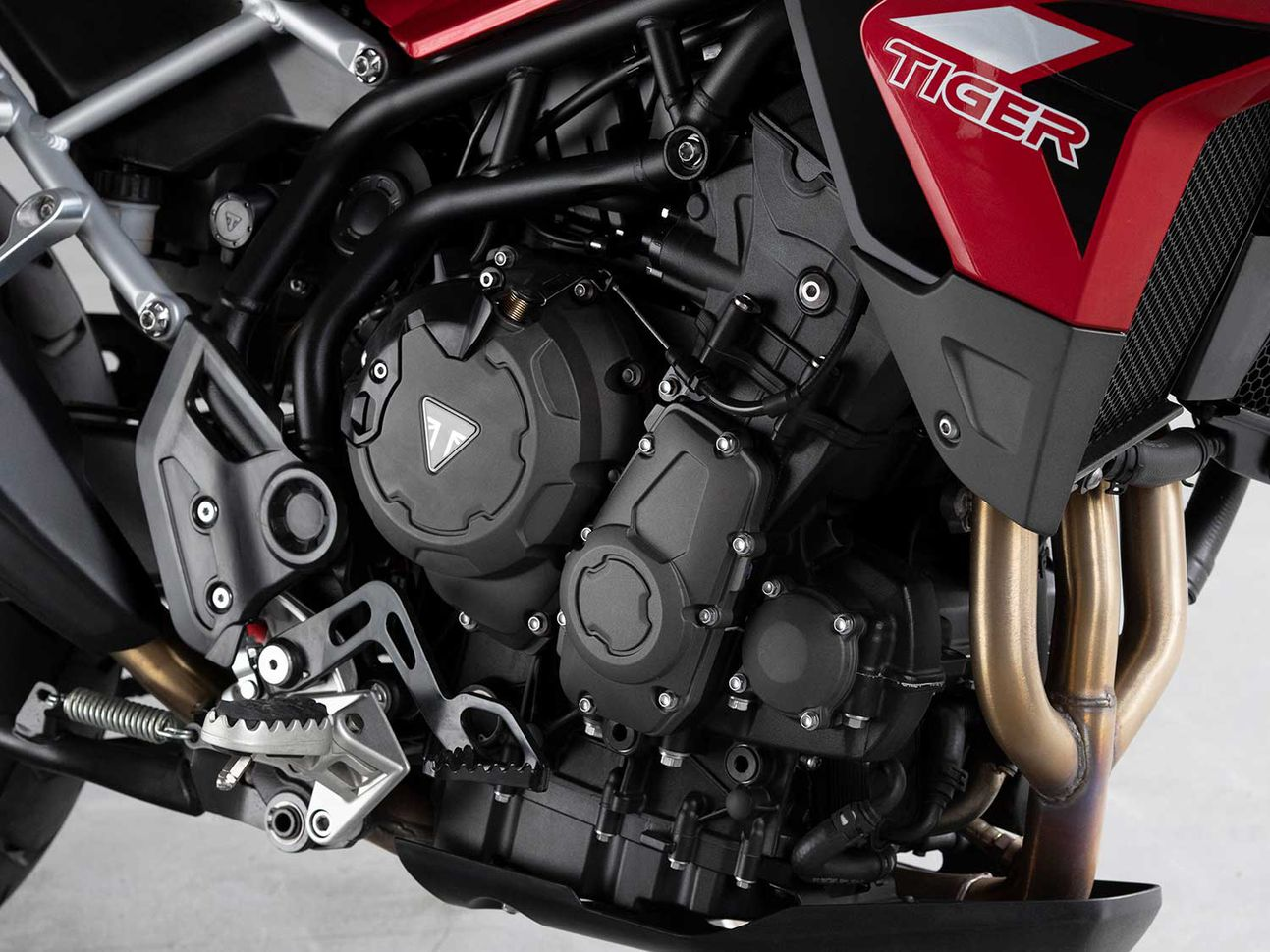 The Tiger 900 is powered by an 888cc inline-three that is more powerful than the 800 it replaces.