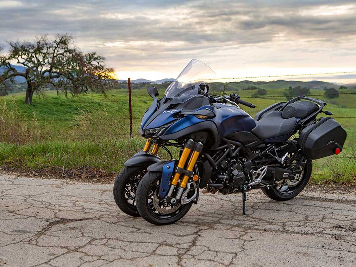 <strong>Yamaha Niken ADV</strong> <br /> Just picture larger wheels, taller suspension, and crash bars. You know, cause the Niken isn't weird enough as it is.