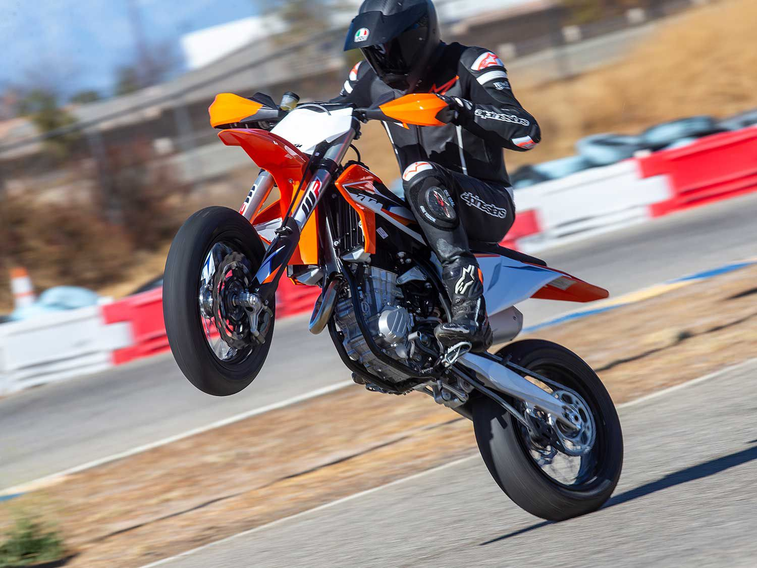 After a seven-year absence, KTM returns to the North American competition supermoto segment with its 2021 450 SMR.