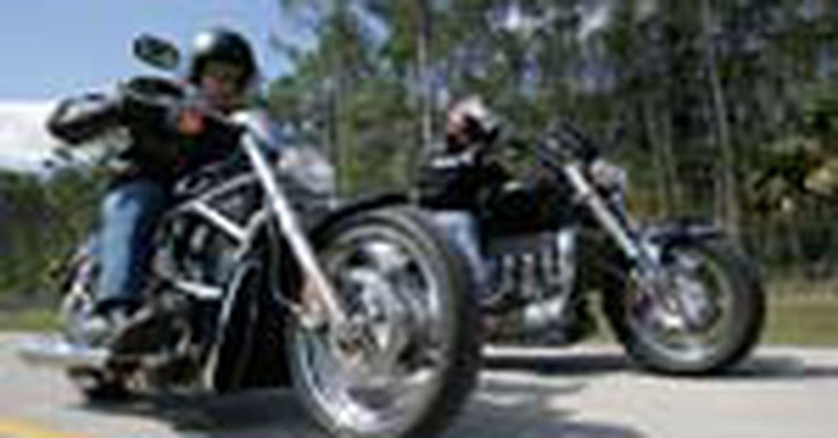 Turbo Triumph Rocket Iii And Harley Davidson V Rod Road
