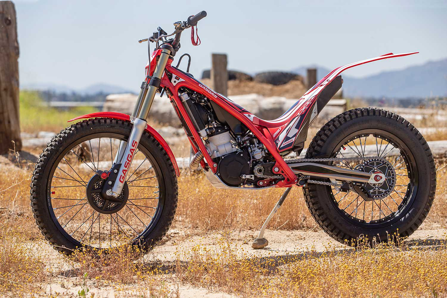 Made in Spain and distributed by KTM, the 2020 GasGas TXT Racing 250 retails at $7,599. It's designed for trials competition and play riding, in lieu of a traditional enduro bike.