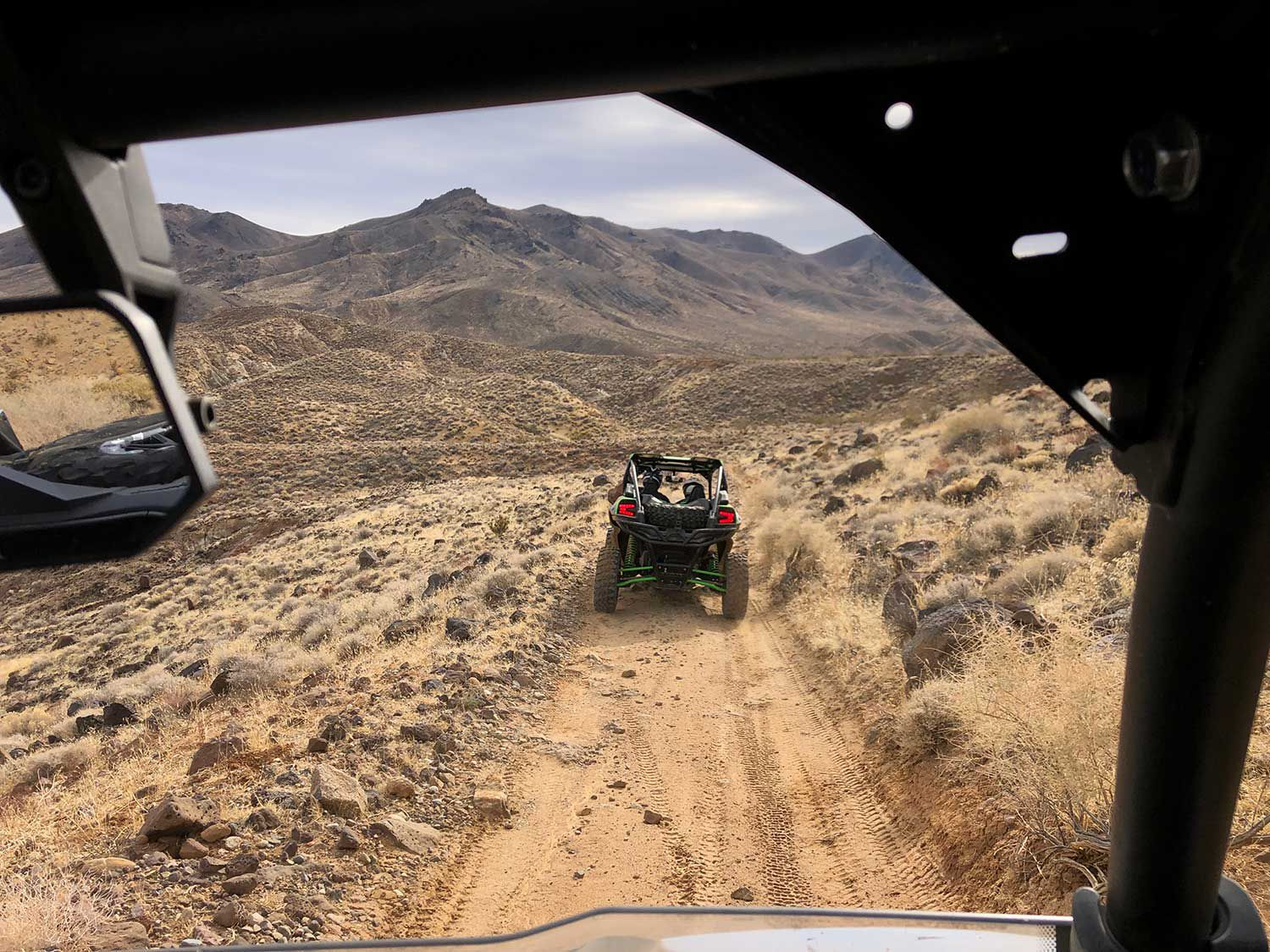 The extremely varied topography at Red Rock Canyon offered a great proving ground for the side-by-side, and included some fine scenery as well.