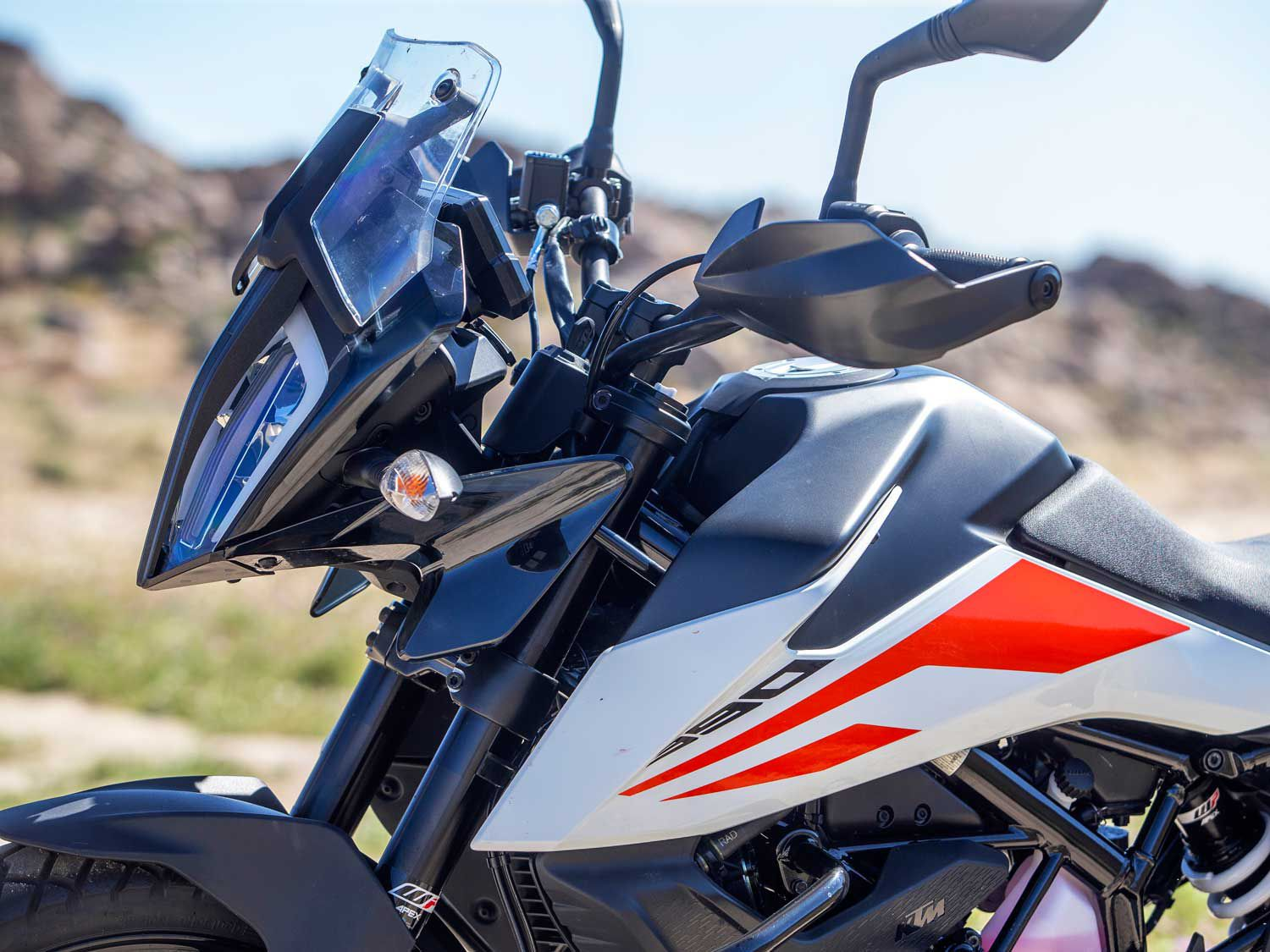 The 390 Adventure looks like a carbon copy of KTM's parallel-twin-powered 790 Adventure ($12,699) which costs more than double the 390.