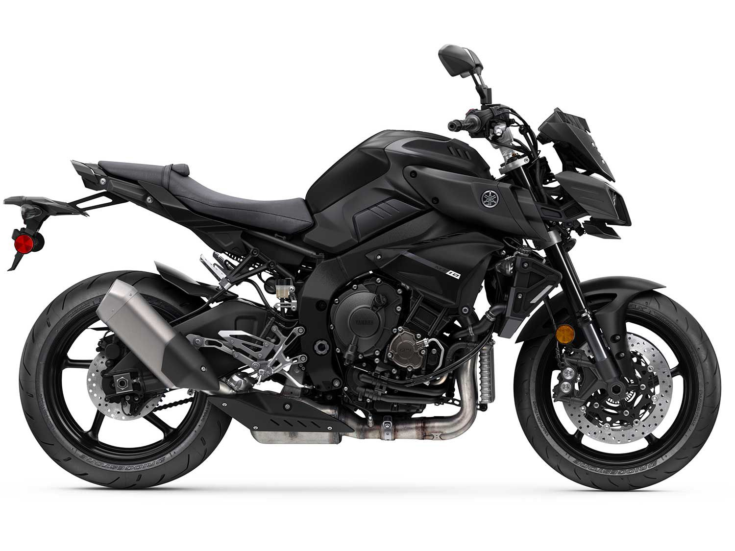 The 2020 Yamaha MT-10 is equipped with a fully adjustable inverted 43mm KYB fork with 4.7 inches of travel.