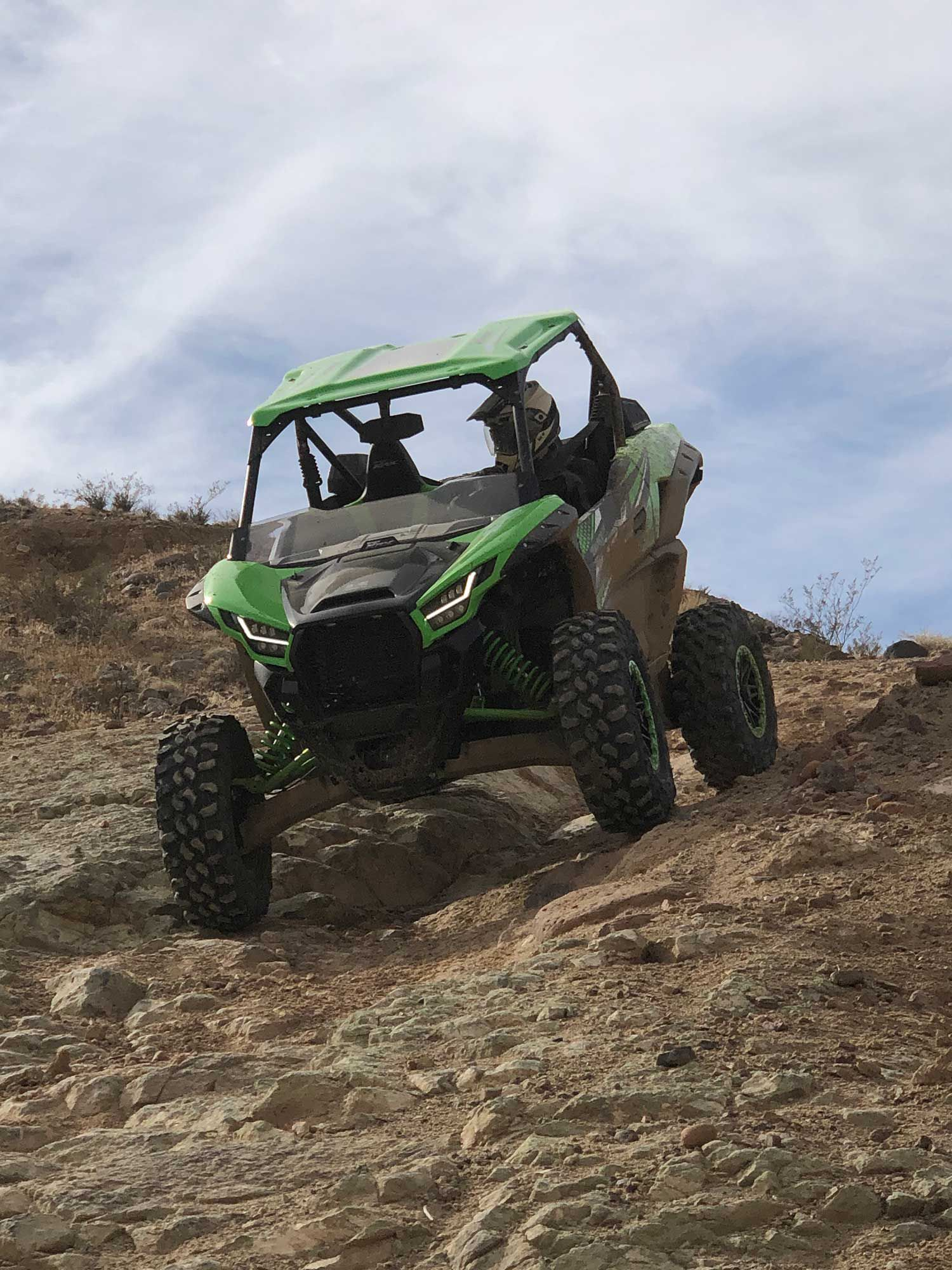 The Teryx was a nimble rock crawler, and managed the rocky sections with aplomb.