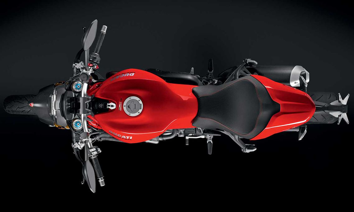 La Monster 1200 S seguirá estando disponible en el tradicional color rojo Ducati.