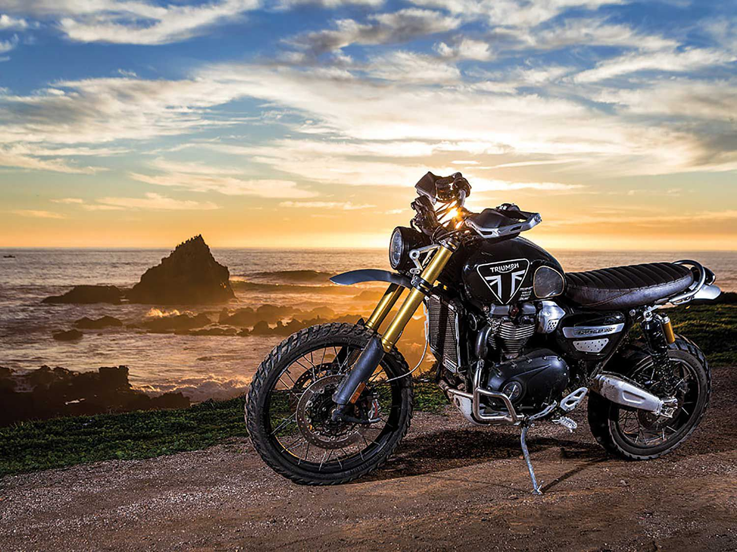 Stuntman Ernie Vigil rode a relatively stock Triumph Scrambler 1200 XE to fifth place in the Modern Open Class at the 2019 Mexican 1000.