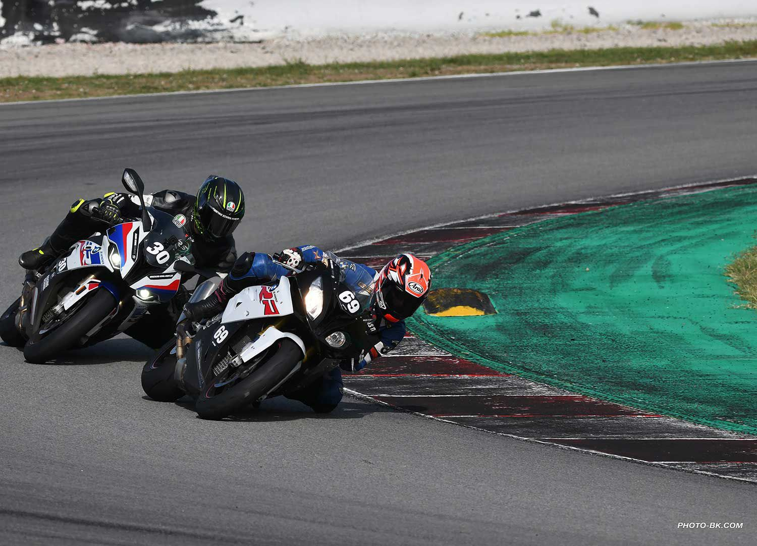 RSE student and AMA 600 Superstock champion Connor Funk and Hurst putting their heads down and busting out some fast laps.